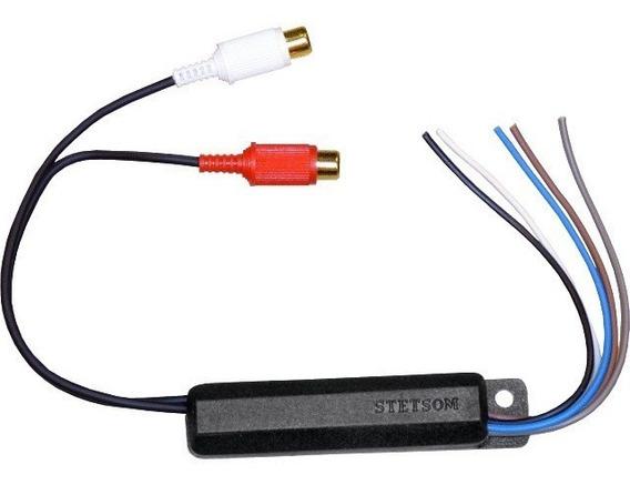 Adaptador De Rca/ Conversor De Áudio C/ Saída Remote Stetsom