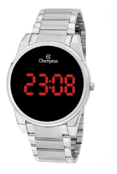 Relógio Champion Feminino Digital Led Ch40124t Prata