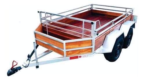 Carretinha Reboque Carga Mede 1,40 X 2,20m Trucada Com Cesta
