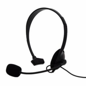 Fone Headset Xbox 360 Headphone Gamer Preto Jogos Online
