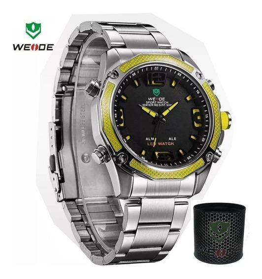 Relógio Masculino Luxo Original Digital Analógico Promoção