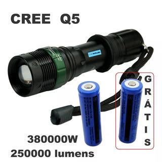 Lanterna Tática Potente Led Q5 Recarregável Militar Hx 109
