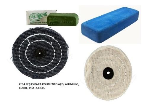 Kit 4 Peças P/ Polimento Aluminio, Cobre, Prata, Aço E Etc