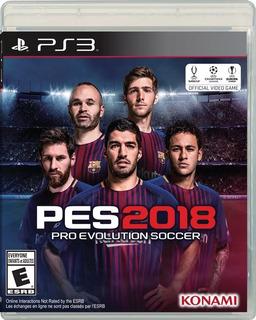 Pes 2018 Ps3 18 Fisico Nuevo Original Pro Evolution Soccer