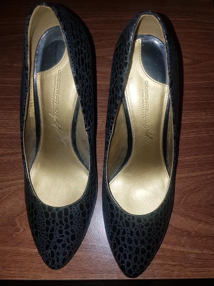 Zapatos Negros Stilettos Forrados Importados Usa