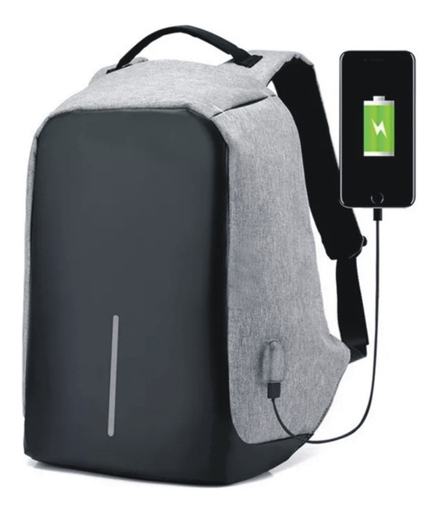 Mochila Notebook Antirrobo Impermeable Antihurto Anti Robo