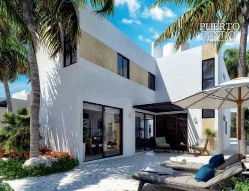 Casas En Venta, En Residencial Puerto Lindo Chelem Mod. Aurora.