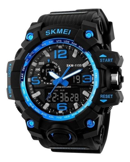 Relógio Skmei Masculino 1155 Original 2 Em 1 Varias Funções
