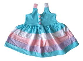 Vestidos E Calcinhas Bebê Menina Colorido Kit 4+4= 8 Peças
