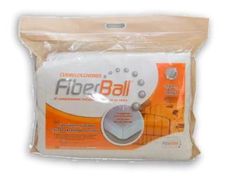 Cubre Colchón Protector Fiberball - 2 Plazas - 140x190