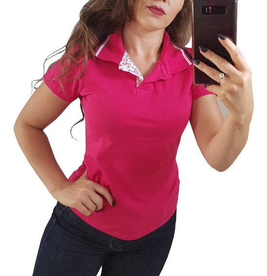 Kit 5 Camisetas Gola Polo Blusas Femininas Uniforme Promoção