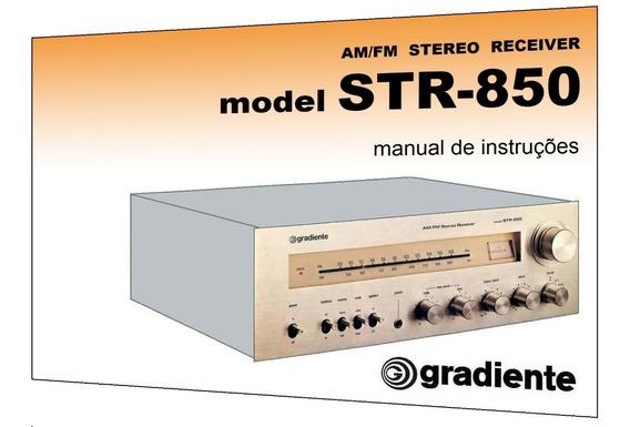 Manual Do Receiver Gradiente Model Str-850 (cópia Colorida)