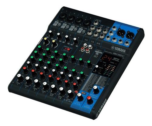 Consola Yamaha Mg10xu Mixer 10 Canales Efectos Usb - Full
