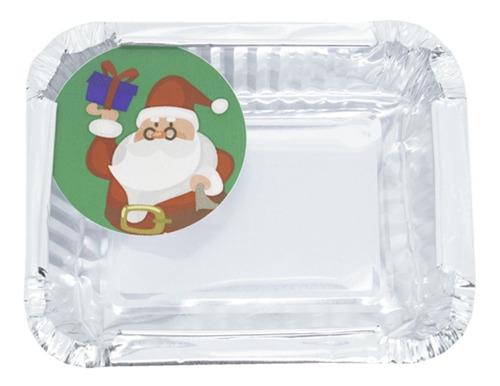 12 Marmitinhas De Natal 9x7 Cm P/ Brownie, Bolo - Forneável