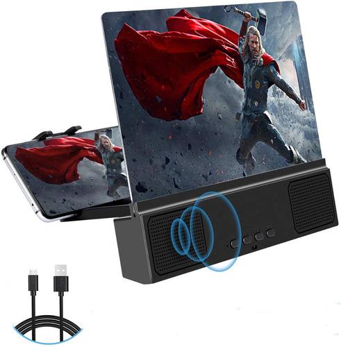 Amplificador Portátil De Pantalla De Teléfono 12p Con Audio!