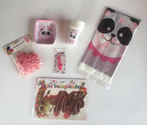 Imagen 1 de 1 de Kit Decoración Celebra En Casa Fiesta Cumpleaños Baby Panda
