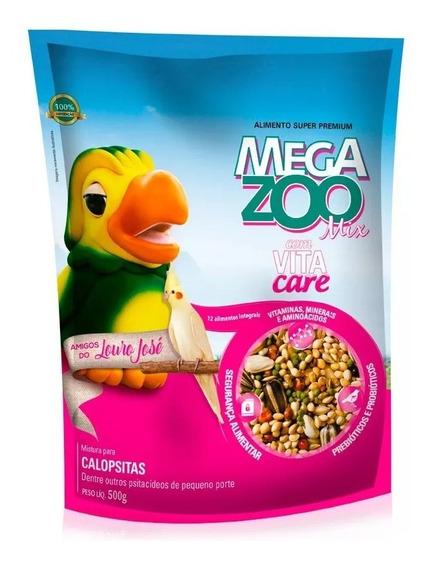 Ração Amigos Do Louro José Megazoo Para Calopsita Mix 500g