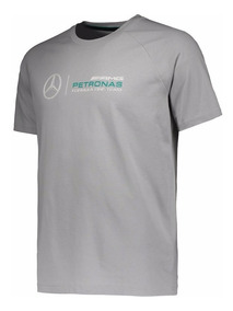 Camiseta Puma Mercedes Amg Petronas Cinza