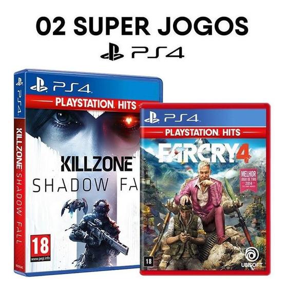 Killzone Shadow Fall + Far Cry 4 - Ps4 Mídias Lacradas