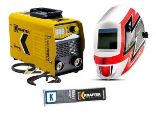 Soldadora Krafter Inverter 165c +mascara+electrodos/puntomak