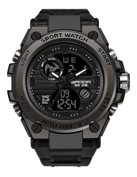 Relógios Sanda Analógico Digital Estilo Militar