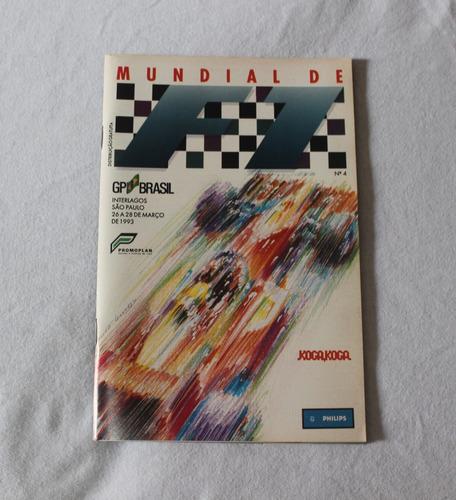 Revista Guia Do Grande Prêmio Brasil De F1 De 1993