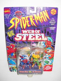 Toy Biz Spiderman Vs Dr Octopus Die Cast Metal Marvel 1994