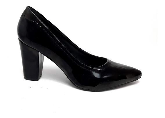 Scarpin Sapato Feminino Salto Médio Bloco Tamanhos Especiais