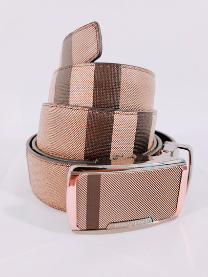 Cinturon Para Caballero Marca Pavini Color Azul Beige