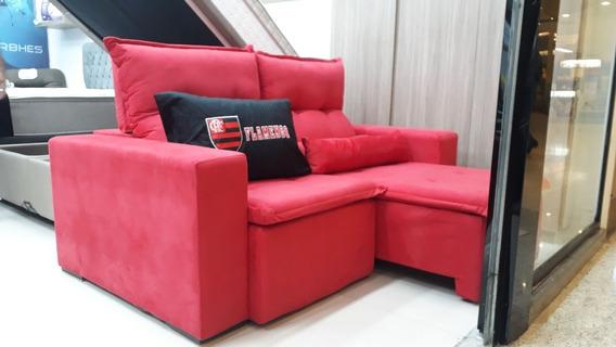 Sofa Retratil E Reclinável Liverpol 3 Lugares Sued Rj/sp