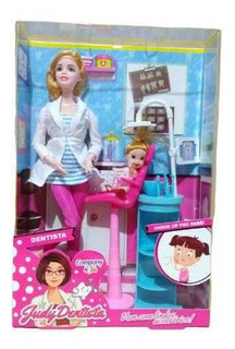 Boneca Loira Judy Dentista 30 Cm Company Kids