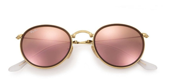 Óculos Rayban Round Dobrável 3517 Original Garantia Brinde