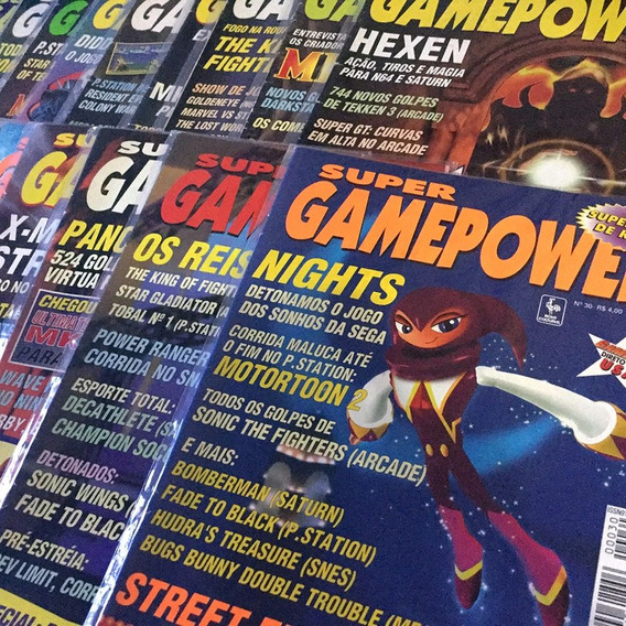 Lote 46 Revistas Super Game Power + Plásticos Ultra Pro
