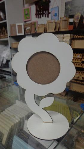 Porta Retrato Flor Em Mdf Cortado A Laser Lembrança