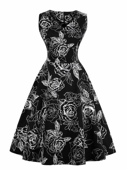 Vestido Sin Mangas De La Falda Grande De La Cintura Del Cuel
