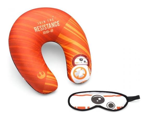 Kit Viagem Star Wars Bb8 Stormtrooper Dupla Face Almofada