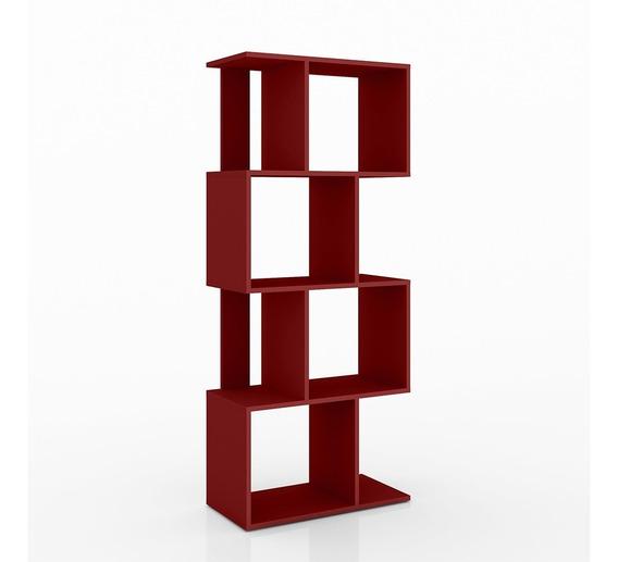 Estantería, Librero, Biblioteca, Bertolini Esm 218 Rojo