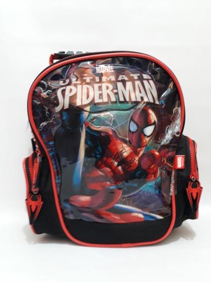 Mochila Spider Man Espalda Ch 4 Bolsillos- 12 Pulg
