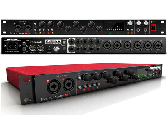Interface Audio 18i20 Scarlett 12x S/ Juros