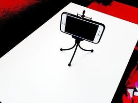 Mini Tripe C/ Suporte Celular Iphone 3g 4g 5g Acao Youtube