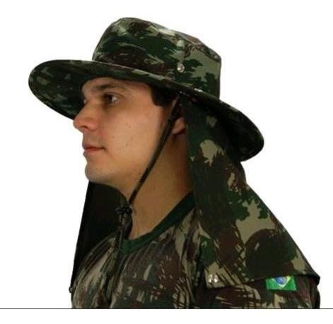 Chapéu Pescador Com Protetor Tecido Rip Stop Mod Australiano
