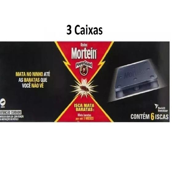 3 Caixas De Iscas Mortein Pro Mata Baratas 6x21g