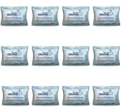 Imagem 1 de 5 de Gelo Gel Artificial Reutilizável Flexível - Kit 12 Unidades