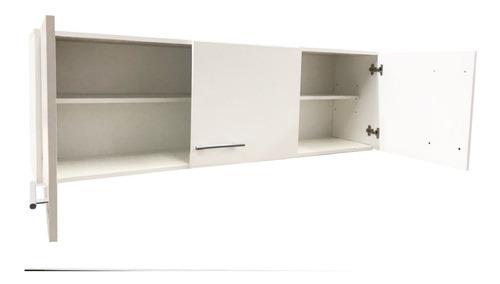 Alacena 140cm 3 Puertas C/estantes Blanca O Wengue Melamina