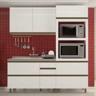 Cozinha Completa Modulada Dalla Costa Ravena 3pc 100% Mdf