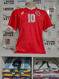 Camisa Suiça Copa Do Mundo 1994 Sforza 10 À Pronta Entrega