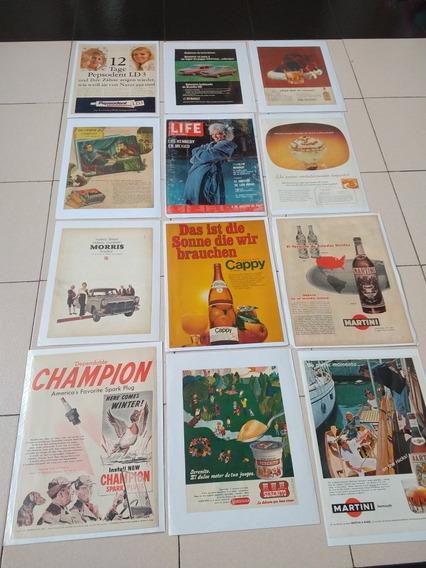 Láminas De Publicidades Antiguas Originales,lote (4)