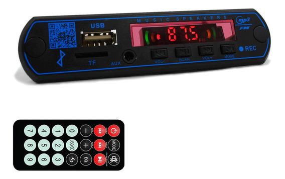 Placa Mp3 Player P Caixa Ativa Usb Sd Bluetooth Fm Tr Pasta