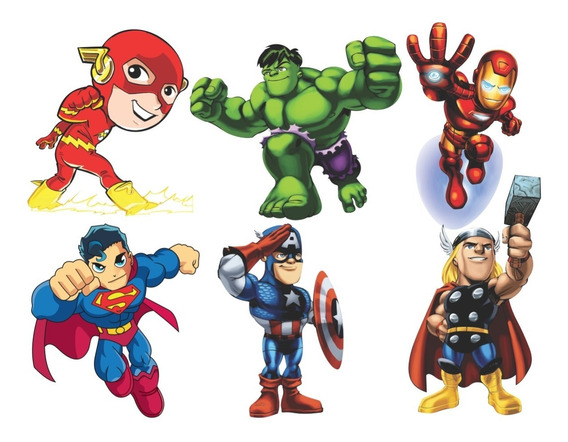 Vinte Adesivos Super Heróis Marvel Kids Super Hero Squad