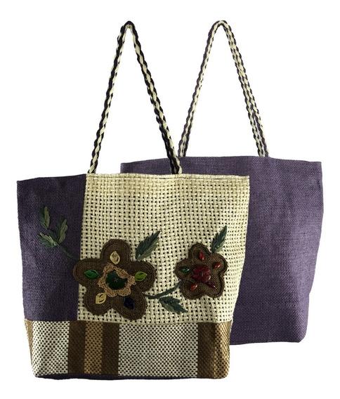 Bolsa Feminina Grande Tipo Sacola Comercial Textil Hy17007